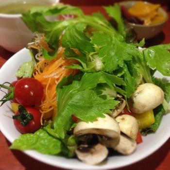 彩りも鮮やかな新鮮でみずみずしい野菜!農家の息子さんのお店だけあって野菜にはこだわりがあります。