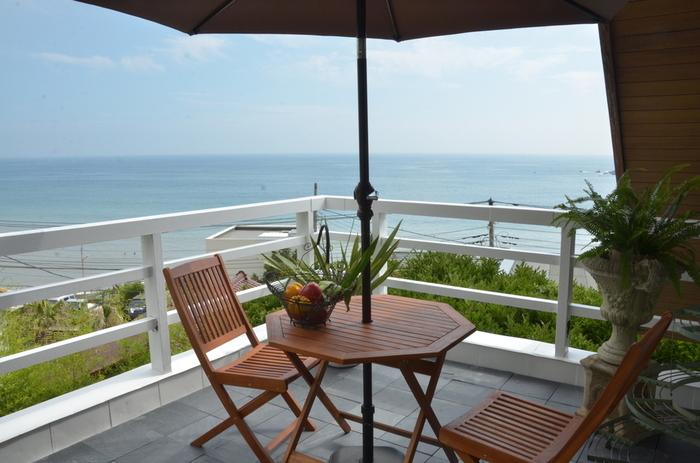 もちろん眺めも最高です。高いところから海を見渡せるのがいいですよね♡