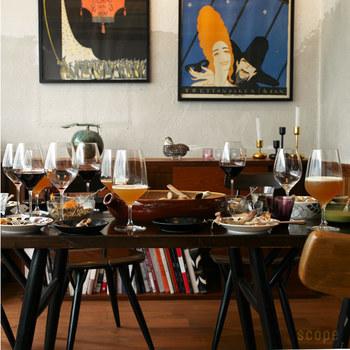レストラン等でもよく見かけるほど、ワイン愛好家にも一般の人にも愛されているシリーズ。おもてなしのシーンを五感から優雅に彩ってくれるでしょう。