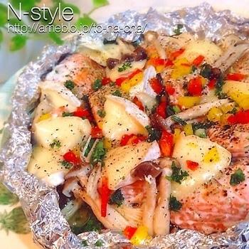 イタリアンなホイル焼き。おもてなし料理にも良さそうですね♪