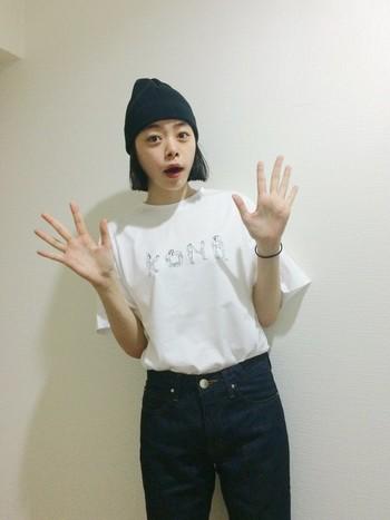 兵庫県出身のモデル・Kanocoさん。「装苑」や「リンネル」などのファッション誌、そして様々な広告などで活躍中です。