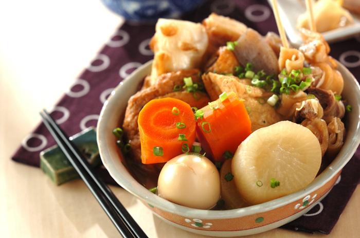 和食の煮込み料理といえば、やっぱりコレ。ひと口かじるとお出汁がジュワッと広がり、笑顔になること間違いナシ!