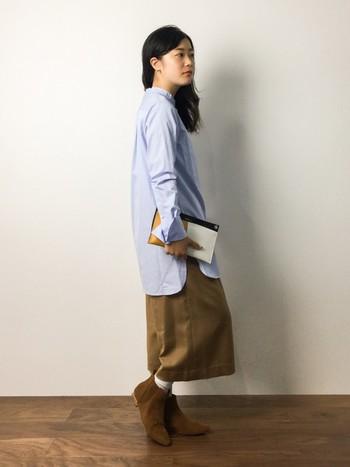 ロングシャツやロングシャツワンピースを上手に素敵に取り入れて、大人かわいいナチュラルスタイルを楽しみましょう!
