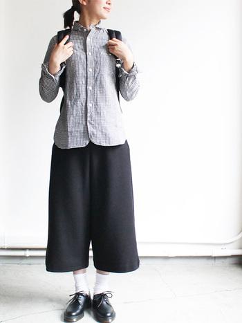 ワンピースにシャツ♪ 秋冬コーデも「ギンガムチェック」で行こう!
