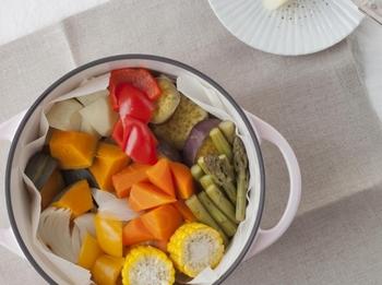 野菜の甘みや旨みをそのまま閉じ込めるから、蒸し野菜こそ差が分かります。