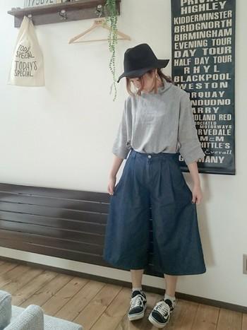 裾が広がりゆったりとした七分丈のパンツ「ガウチョパンツ」。この秋も人気のアイテムで、街やショップでもよく見かけますよね。そんな、トレンドのガウチョパンツに挑戦してみたいと思いませんか?