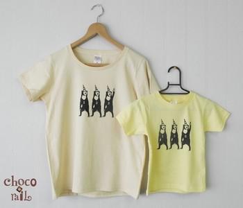 サーカスマレーグマさんのプリントTシャツです。三角帽子がなんとも愛くるしいですね。親子で着られるので、お子様とお揃いにしてみてはいかがでしょう?