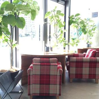 店内は開放的で明るい空間。こんなレストランなら会話もはずみそうですね☆