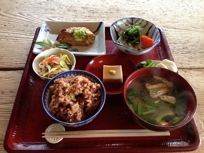 体にやさしい、ランチメニューです。ヘルシーなので女性にはうれしい!和食が好きな方におすすめ!