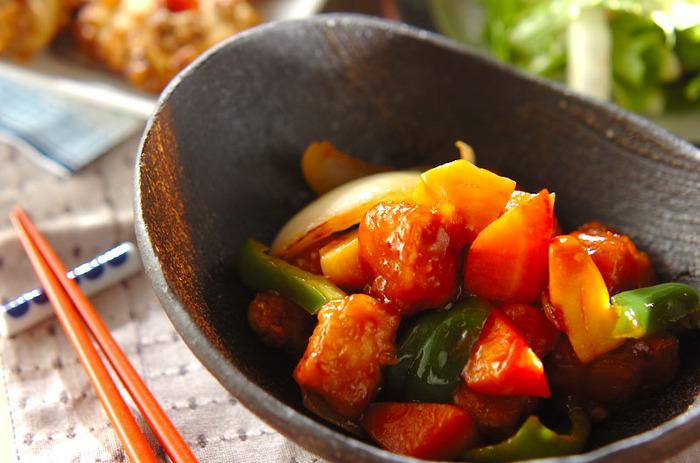 ゴロゴロ野菜が嬉しい酢豚♪下ごしらえさえしっかりやればあとはとても簡単なんです。