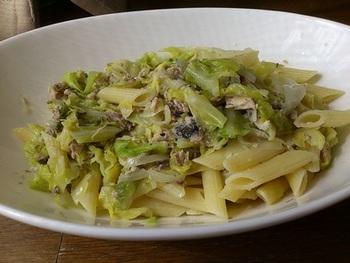 さば水煮缶を使って、イタリアンを。キャベツやサワークリームを隠し味にして。鯖と同様、キャベツにもダイエット効果があるので、相乗効果がありそうですね。