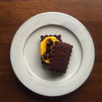 それぞれの季節のお菓子を味わうことが出来るというのもきのね堂の魅力。季節に合った素材を使ったお菓子は最高に美味しいんです。こちらのかぼちゃを使ったクッキーは、かぼちゃのやさしい甘さが嬉しい一品。