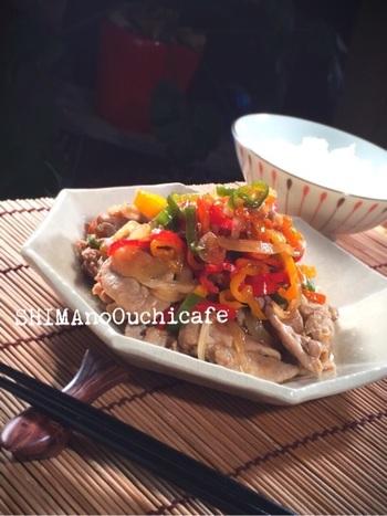 さっぱり風味のしょうが焼きです。豚肉のビタミンBもあわさって、疲れている時や風邪の時にはぜひ食べたいお料理です。