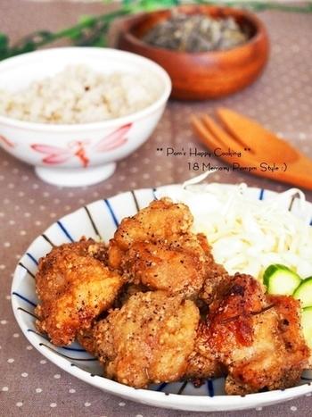 クセになるわさびの漬けダレは、鶏肉にもよく合う和風な美味しさ☆  いつもとちがった味付けで食べたい時にはおすすめです。