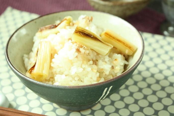 焼いた長ネギをさらに炊き込んで。 何度もおかわりしたくなるこの味に、子供たちもきっと喜んでくれます♪