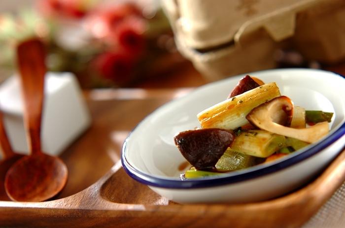 和のマリネは素材の味をふんだんに生かして。 ご飯にとても合いそうです。