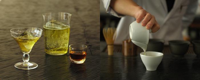 お茶が供されるまでの時間、スタッフの方のお手前を見られるのも嬉しい。単にきれいというだけではなく、もてなしの心に感動します。茶器など道具を見るのも楽しいひとときです。