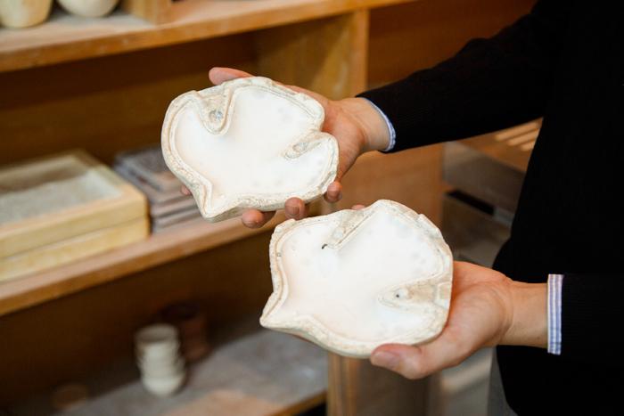 このような型も伊藤さんが作ります。画像は「WALL BIRDS」のもの。粘土で型を取ってから、制作スタッフさんたちの手で美しく成型されていきます