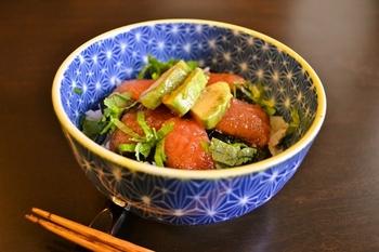 こんな和食も見つけました!見た目はまるで「まぐろ丼」。亜麻仁オイルでトロの濃厚さを出すそうです♪