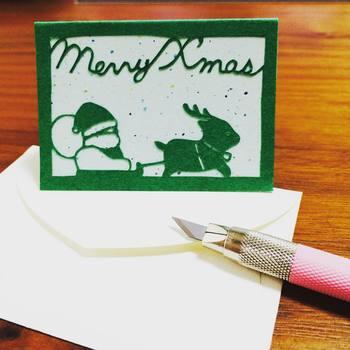 多くの市販品が出ているクリスマスカードですが、こんなにあたたかなカードをもらう機会はめったにないかも。
