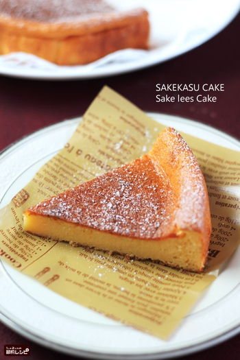 酒粕を使用することでしっとりとしたチーズケーキの出来上がりです。 かなりはまる味なので食べ過ぎ注意です。