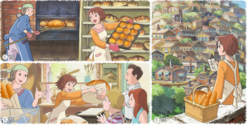 フランソア「SLOW BREAD」シリーズの魅力はオリジナルのアニメーションによって伝えられます。フランスのある小さな港町でパン屋を営むお母さんと二人暮らしの少女・カシスが主人公。パンを通してカシスが街の人たちと交流していく物語が描かれています。テレビCMも度々行われていますが、九州だけのOAにも関わらず「感動的」と話題が全国に広がり、youtubeで50万回以上再生されたものもあるそう。アニメーションを手がけているのは、スタジオジブリでも活躍したアニメーターの佐藤好春さん。最新版のCMは、なんと半年以上もの時間をかけて制作されたそうです。パン作り同様、その「想い」を伝えることにもこだわった本格的な姿勢がうかがえますね。