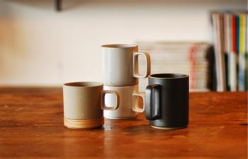 3種類の大きさ、カラーから選べるマグカップ。
