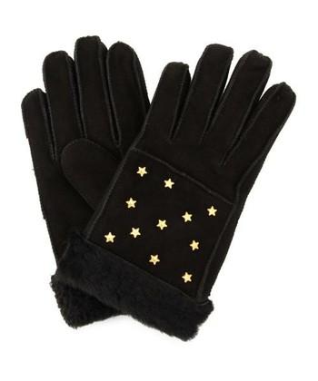 ゴールドカラーの星のスタッズがキュートなムートン手袋。やわらかな羊革を使用し、着け心地は抜群で、防寒対策しながら手元のおしゃれも思い切り楽しめます♫