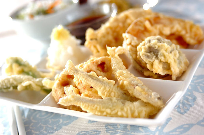 『旬』を楽しむ一品天ぷら♪サクサク食感を楽しみましょう☆