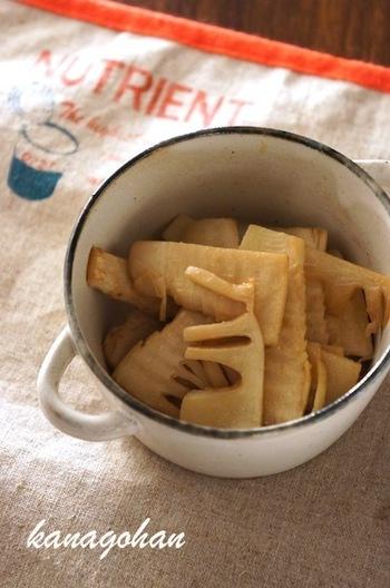 たけのこのソテーってあまり食べたことない方も簡単!バターと柚子胡椒が合うんです♪