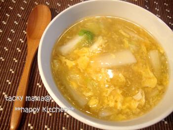 スープとして食べる場合と、うどんとして食べる場合では味の濃さを少し変えて。優しい味なのでお子様にもおすすめ。