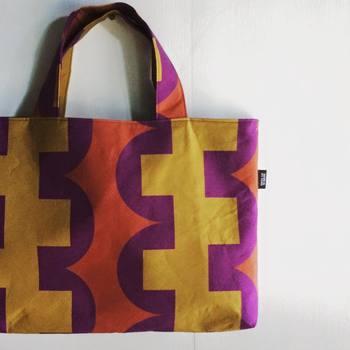 「朝顔」で作ったバッグ。大人のレッスンバッグや子供のお道具バッグに。お揃いで作ってみてはいかがですか?