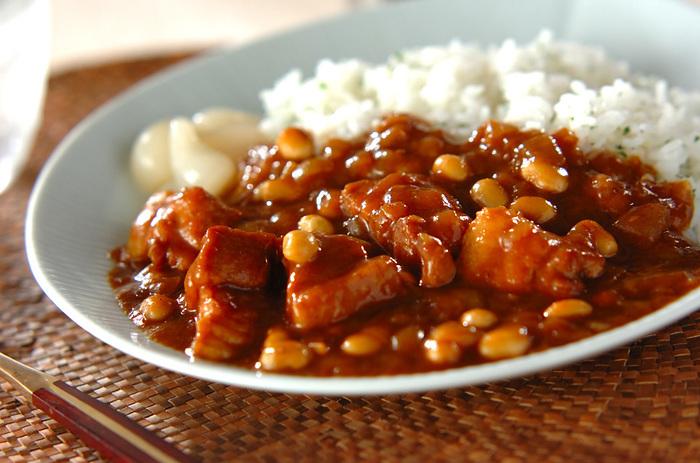 ごはんにかけて食べるものの代表と言えば、カレーライス。子どもにも人気の料理です。 ちょっとホットなメニューが、夏にも冬にも合います。ポークをチキンやシーフードに替えてみるだけでも、いつもとは違うカレーが楽しめますよ!