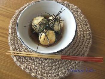 揚げだし豆腐と一緒に食べてもいいかもしれません。揚げ物でもあっさり食べられて嬉しい一品です。