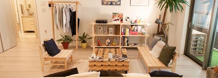 すべてマケットの家具でそろえると、お部屋に統一感が生まれます。木のぬくもりを感じるリラックスできそうな雰囲気になりますね。