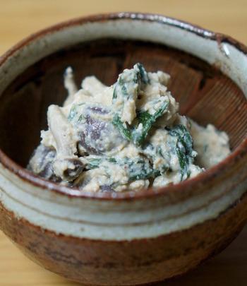 いつもと違う白和えなら、こちらで決まり♪マスカルポーネと白胡麻、豆腐のコクが相まって、お口が喜ぶ一品!