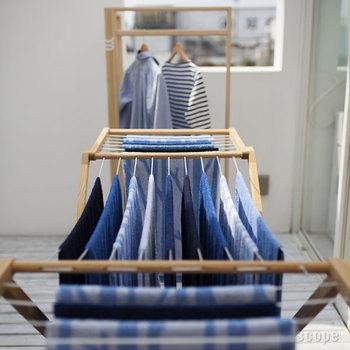 速乾性にもこだわって作られたハウスタオル。「洗濯物の乾きにくい冬に、夜干して朝までに乾く!」を目標に作られているというだけあって、乾燥時間も驚くほど短いんです。