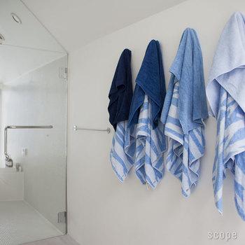 「フェイス」サイズのタオル一枚だけで、お風呂上りもOKなレベルの吸水性。よく水を吸うタオルって、使っていても気持ちがいいですよね。