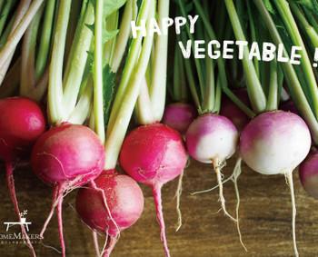 HOMEMAKERSのオンラインショップでは、三村さんの畑で採れた6〜8種類の旬の野菜のセットが購入できます。季節によって届けられる野菜も変わるので、四季折々のいろいろな種類の野菜を楽しむことができますよ。