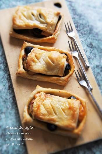 ■スパッシュ野菜のパイ包み ラタトゥイユが余ったら、ぜひ試してほしいレシピ。 ゆで卵を入れて、ボリュームも満点です!