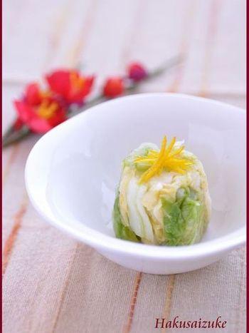 柚子の香りと盛り付け方にも工夫を加えて、料理にもこなれ感を♪