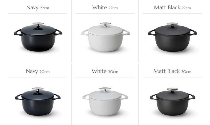 大きすぎる琺瑯鍋は、少し使いにくいですよね…ユニロイの琺瑯鍋は、20㎝、22㎝、24㎝の3サイズ。どのサイズも調理に丁度良いコンパクトサイズなのが魅力的。