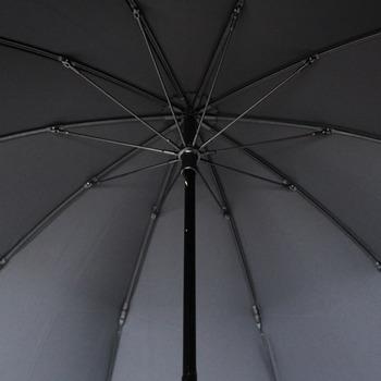 10本骨で安定感たっぷり。強風や強雨でも安心です。