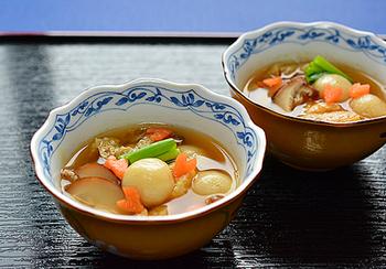 岩手県の郷土料理、本格まめぶ汁が白玉粉で作れちゃいます! 身体が弱っているときにもおすすめな、栄養満点メニュー。