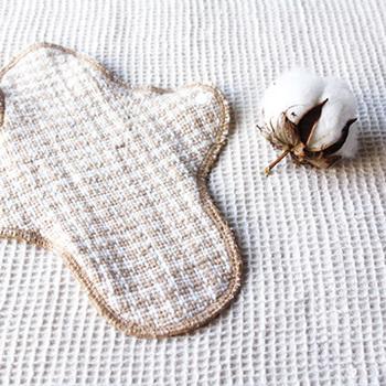 『おひさま(昼用) 生成』  益久の布なぷきんのレギュラーサイズ。千鳥格子柄がかわいらしいですね♡お肌にやさしい素材で、吸収体、防水シート入りなので機能性も◎