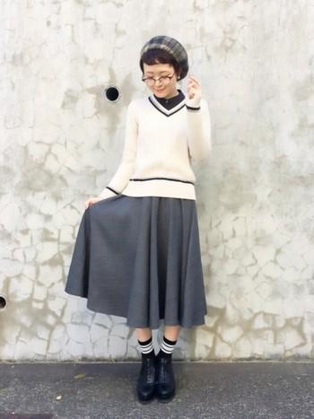 ハイセンスな女学生スタイルは、大人だからこそ可愛いく着こなせるんです!