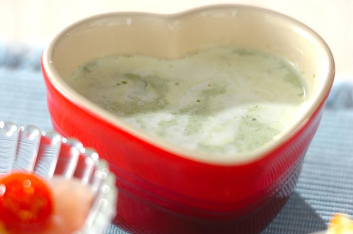 ポタージュにすればより一層食べやすくなります。寒い時期にもオススメのあったかレシピです。
