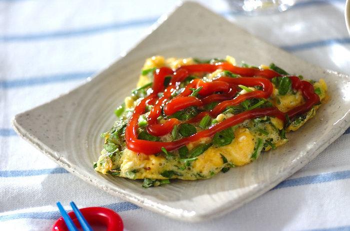ふんわりとした卵と、シャキッとしたクレソンの食感が楽しい一品。朝ご飯に最適です♪