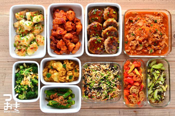 お仕事のある日は、簡単に済ませてしまうこともある晩ごはんも、新しいレシピにチャレンジしたり、料理することを楽しむことができるのも休日ならでは。 また、晩ご飯と一緒に、明日からのお弁当用や仕事から帰ってからのご飯のためにも作り置きまでできれば完璧です!