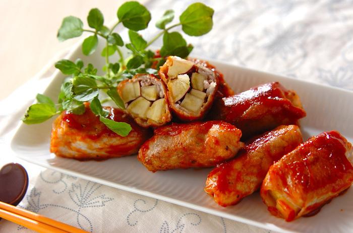 豚肉とも相性抜群のサツマイモ。ケチャップ炒めなのでお子様にも大喜びのおかずです。